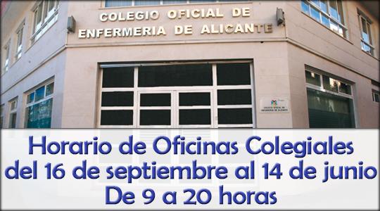 Colegio oficial de enfermer a de alicante for Horario oficinas ibercaja